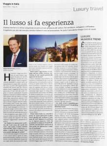 Articolo Viaggio in Italia